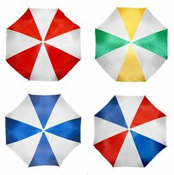 Beach Umbrella 6 FT Portable + Carry Bag Pole red-blue-yello