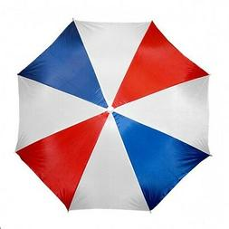 Beach Umbrella 72 inch Nylon Adjustable American Red/White/B