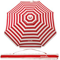 Beach Umbrella 7ft Sand Anchor with Tilt Aluminum Pole UV 10