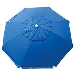 Rio Beach 6' Beach Umbrella with Sun Block, Blue