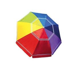 7 Foot Beach Umbrella - Rainbow