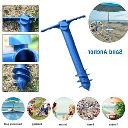 beach umbrella sand anchor auger and fishing