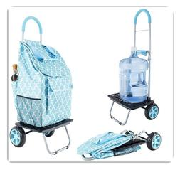 dbest products Bigger Trolley Dolly, Shopping Grocery Foldab