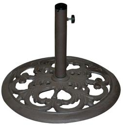 TropiShade 30-Pound Bronze Powder-Coated Cast Iron Umbrella