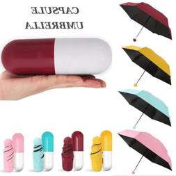 Capsule Umbrella Mini Light Small Pocket Umbrellas Anti-UV F