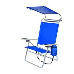 Deluxe 4 position Aluminum Beach Chair w/ Canopy & Storage P