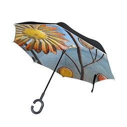WBSNDB Double Layer Inverted Sea Art Beach Spring Umbrellas