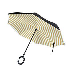 RYUIFI Double Layer Inverted Striped Png Umbrellas Reverse F
