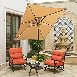 9ft x 6ft Duluxe Tilting Solar LED Lighted Antique Brown Fin