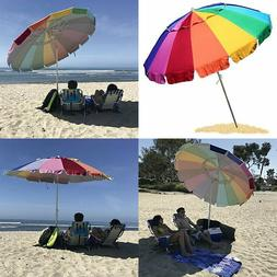 EasyGO 8 Foot Heavy Duty HIGH Wind Beach Umbrella - Giant 8'