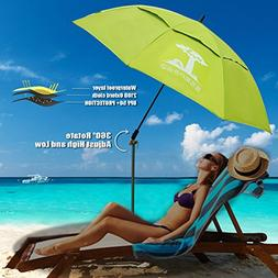 Fishing patio beach umbrella with 4.39lb, windproof/waterpro