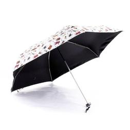Five Folding Umbrella Light Rain Little Bear Pattern Beach U