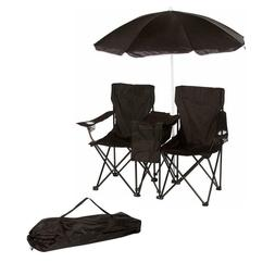 Folding Beach Chair Set With Umbrella And Cooler Portable Ca
