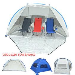 Jumbo 9 ft. Deluxe Beach Shelter with Ventilation Panels and