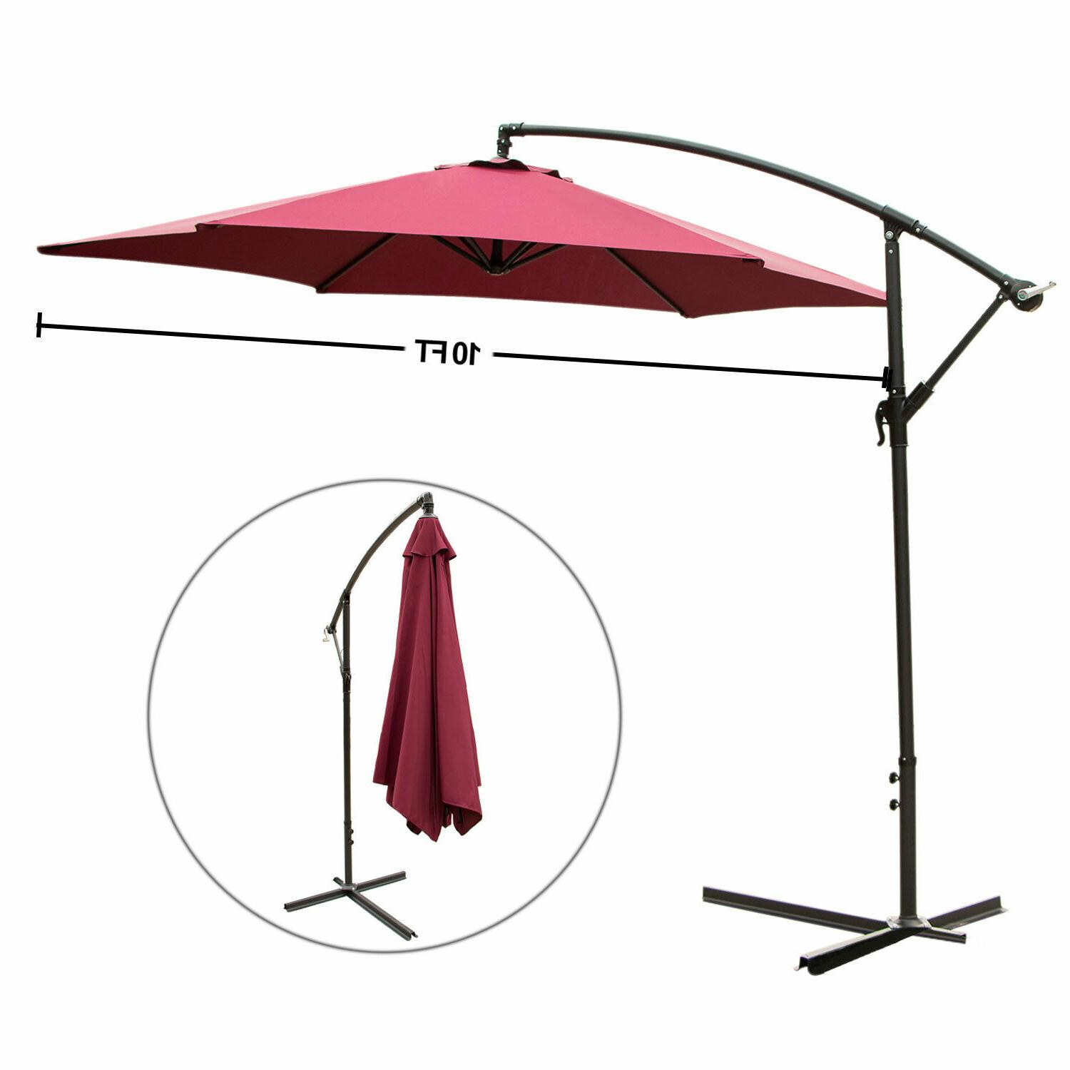 10FT Patio Umbrella Shade Red