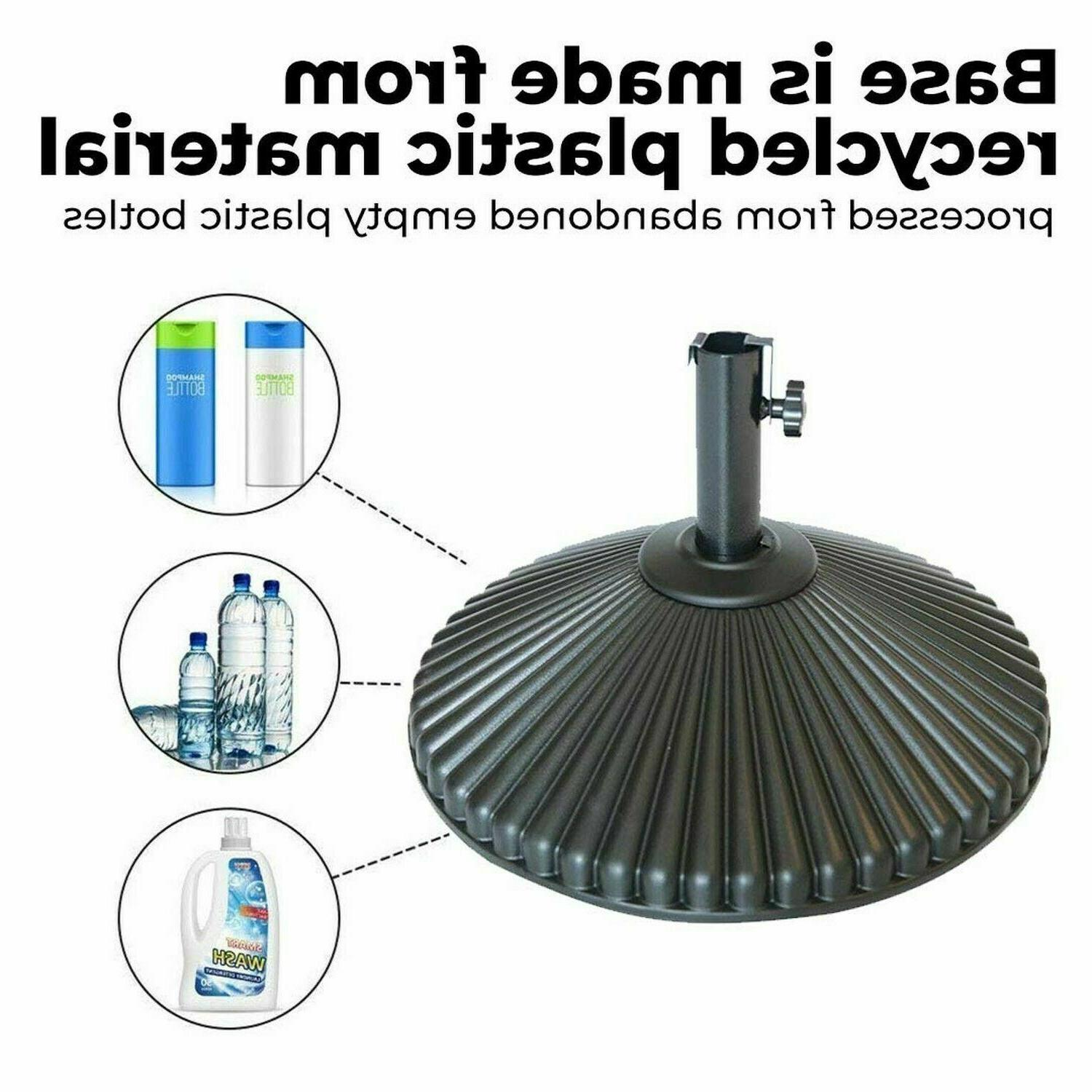 Abba Patio 50 Round Patio Umbrella Base Recyclable Plastic