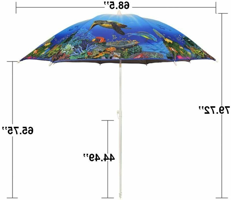 6.5ft. Beach Umbrella and UV 50+