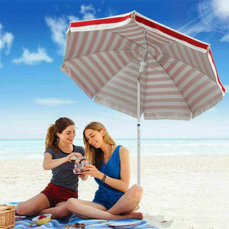 6 5 beach umbrella with sand anchor