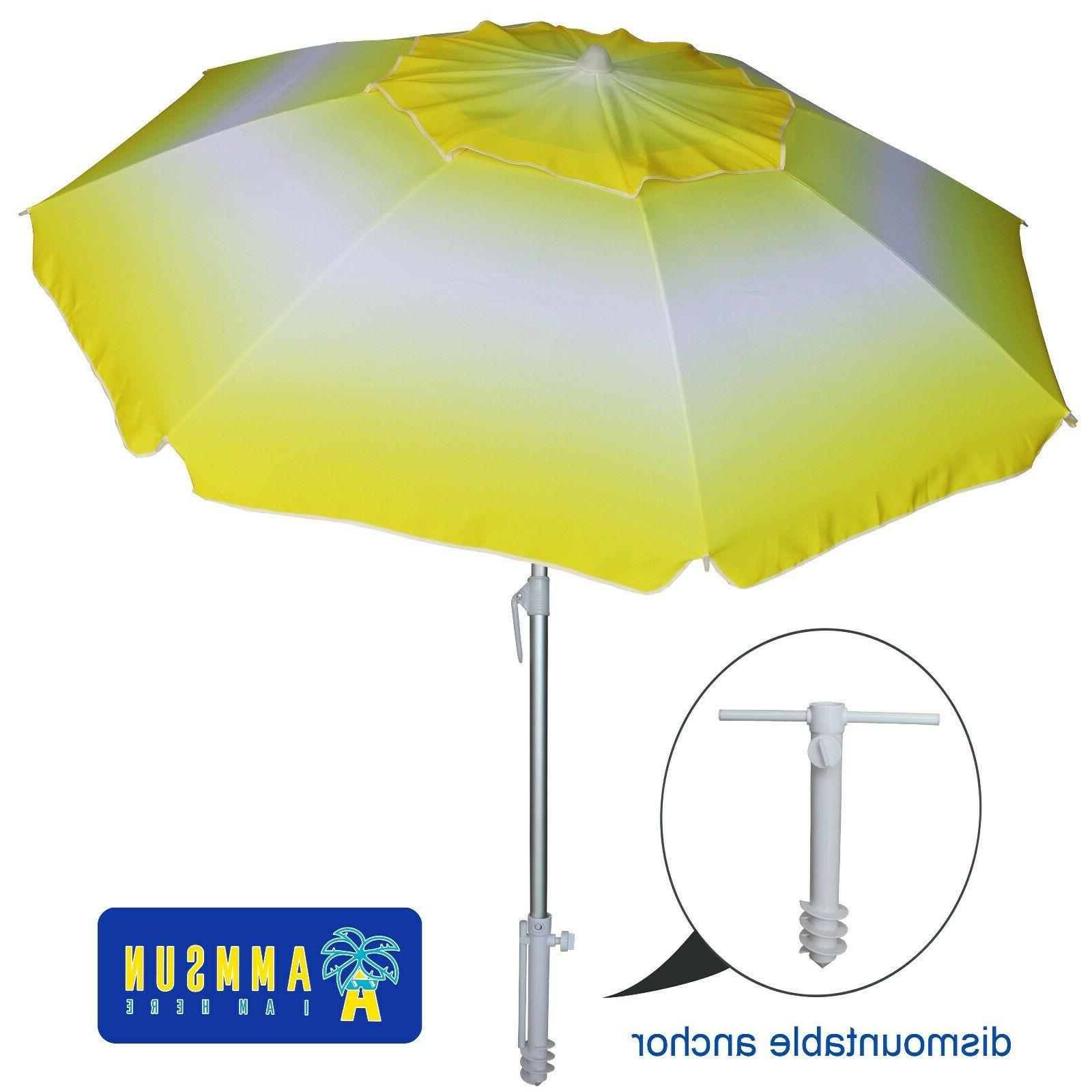 6 5ft beach umbrella with tilt separate