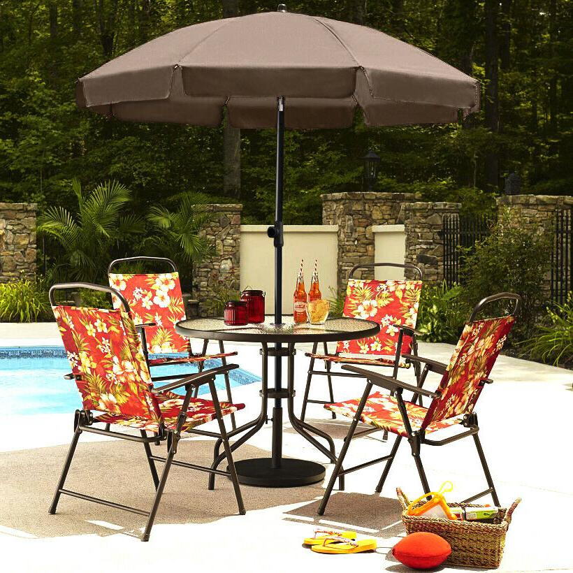 AMMSUN 6.5ft patio Umbrella with adjustable