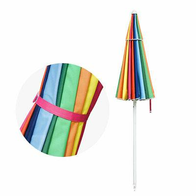 6/7/8ft Rainbow Umbrella Metal 16 Umbrella