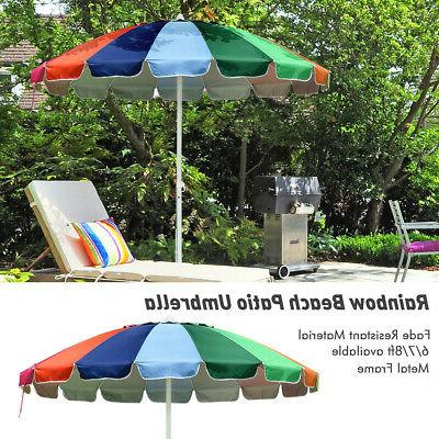 6 7 8ft rainbow beach patio umbrella