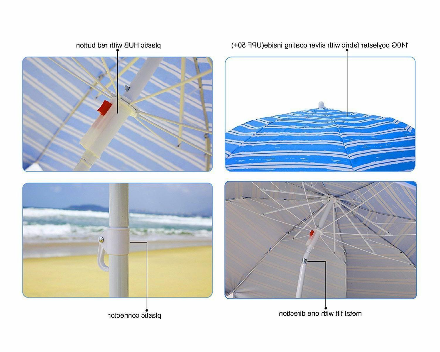 AMMSUN Portable Beach Tiltable Protection