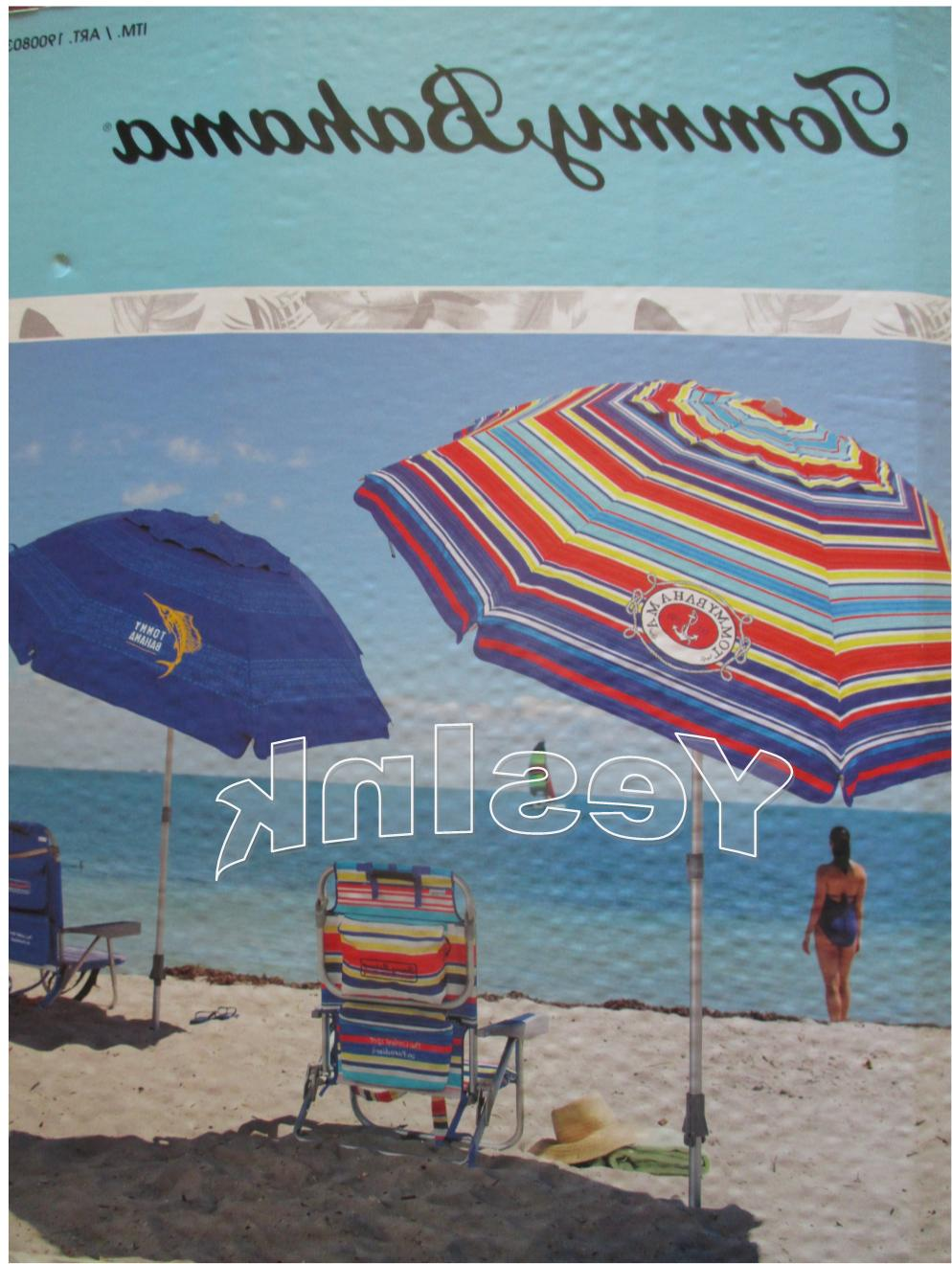 TOMMY Bahama Beach Umbrella w/ Tilt MULTI-COLOR OR BLUE