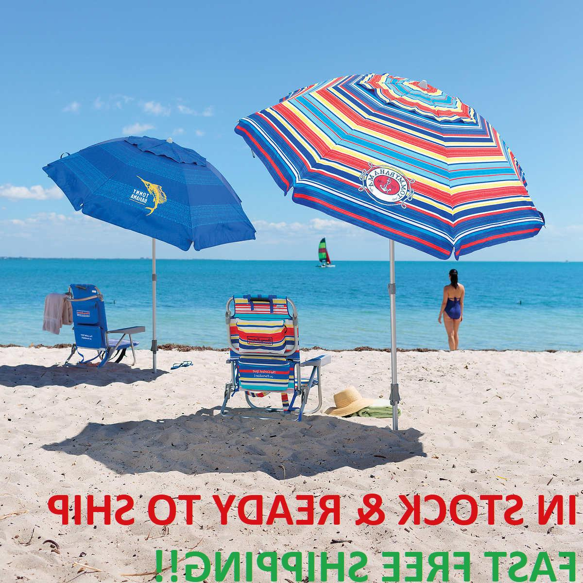 7 beach umbrella w tilt multi color