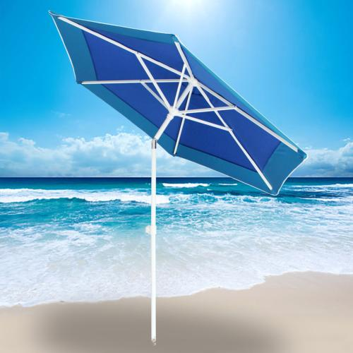 7ft beach umbrella with sand anchor adjustable