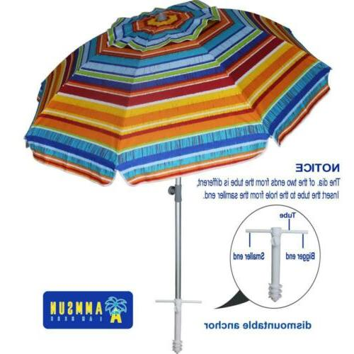 7ft beach umbrella with sand anchor screw
