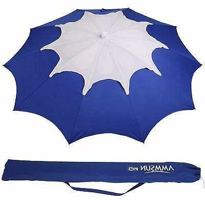 AMMSUN 7ft Umbrella with and 100+, Flower