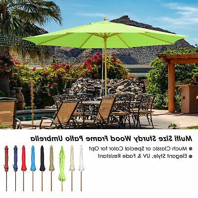 8 9 13 outdoor patio wood umbrella