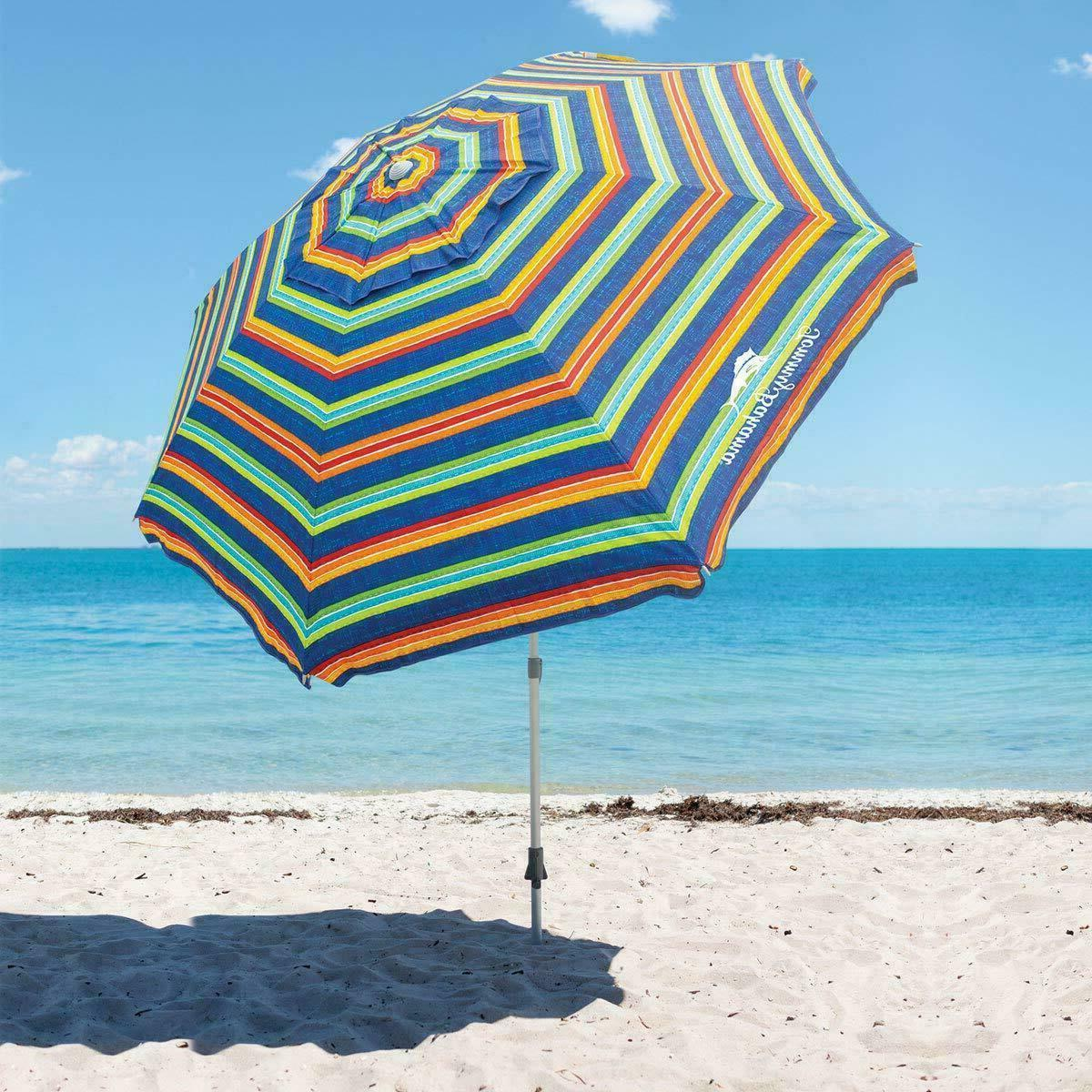 Tommy Bahama 8' Beach Umbrella with Tilt - Multi Color Strip