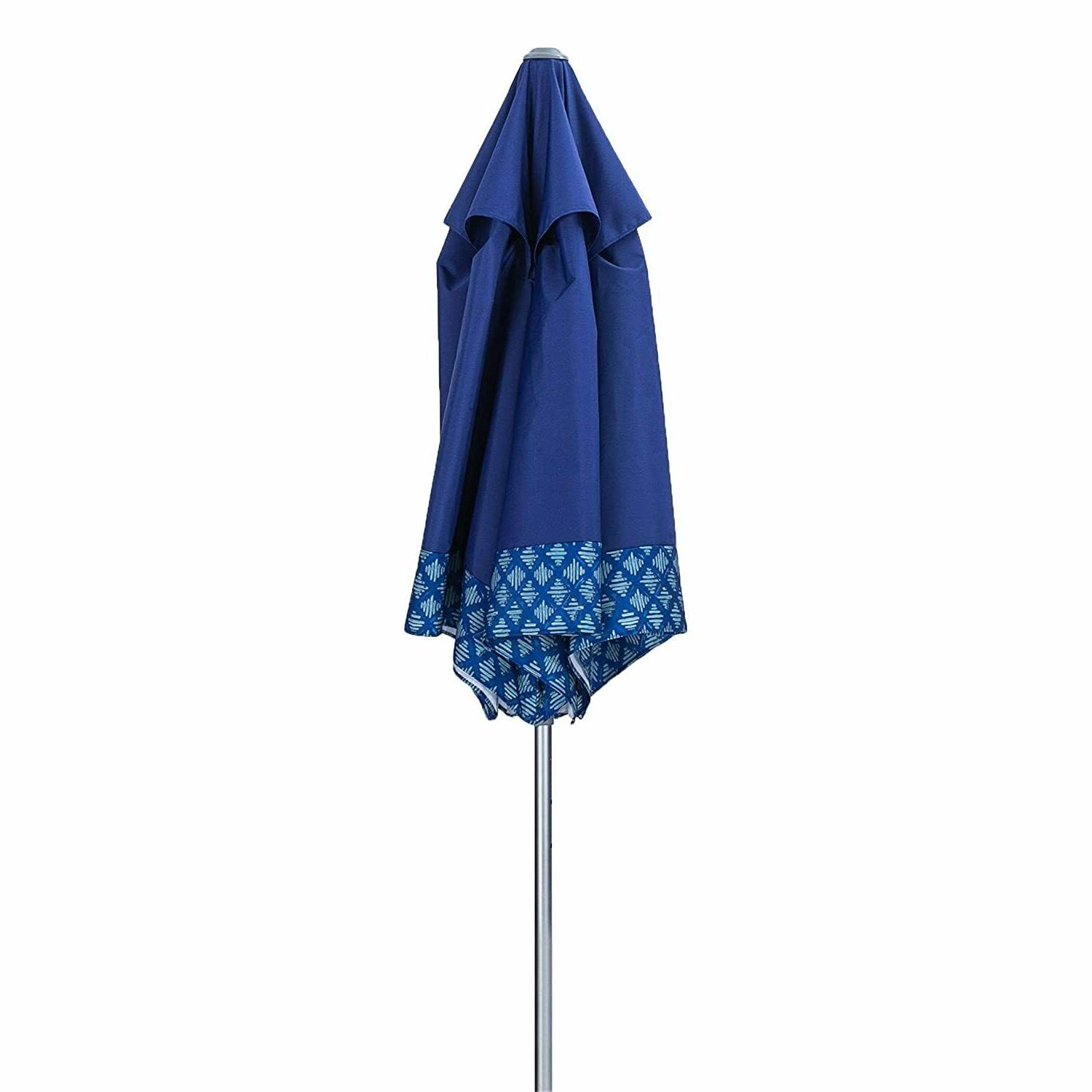 AMMSUN 8ft Umbrella with Anchor Adjustable Height