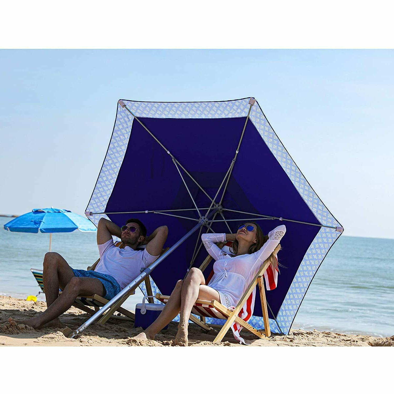 8ft patio beach umbrella with sand anchor
