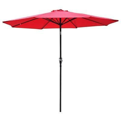 9' Patio Umbrella Sunshade Cover Yard Ribs