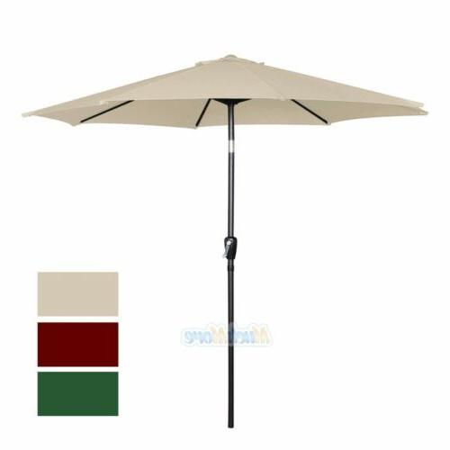 9FT Ribs Umbrella Tilt W/ Yard Beach