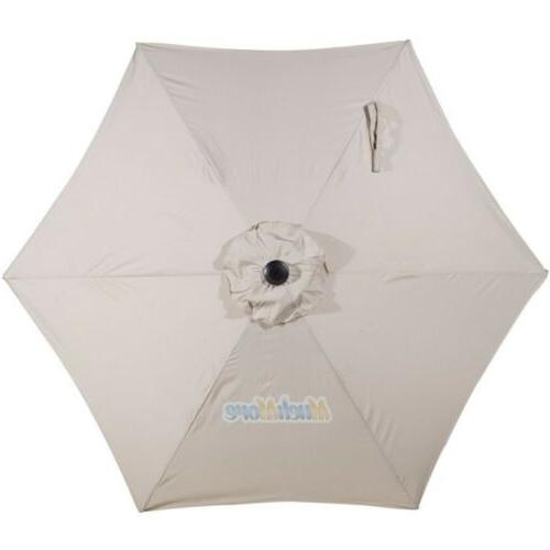 9FT 6 Umbrella Aluminum Market Steel Tilt Yard