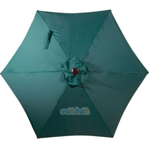 9FT Patio Umbrella Aluminum Steel Tilt Crank Yard Beach