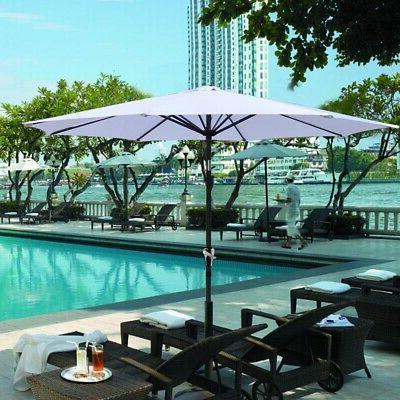 9ft Ribs Patio Umbrella Tilt Market Yard Beach UV