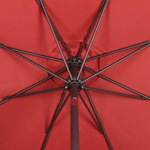 9ft Patio Umbrella Beach Garden Parasol Sunshade UPF 50 Red
