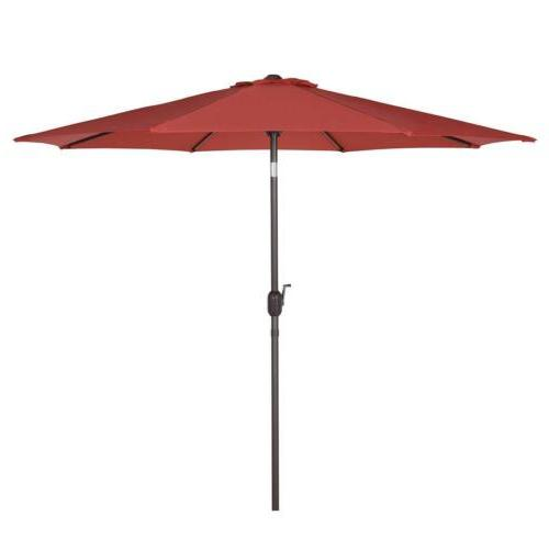 9ft Market Umbrella Sunshade 50 Red