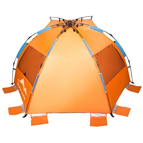 Oileus 4 Beach Sun - Portable Instant for with Carrying 6 Sand UV Fishing Hiking Camping, Windproof,