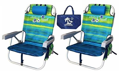 beach chair backpack portable reclining