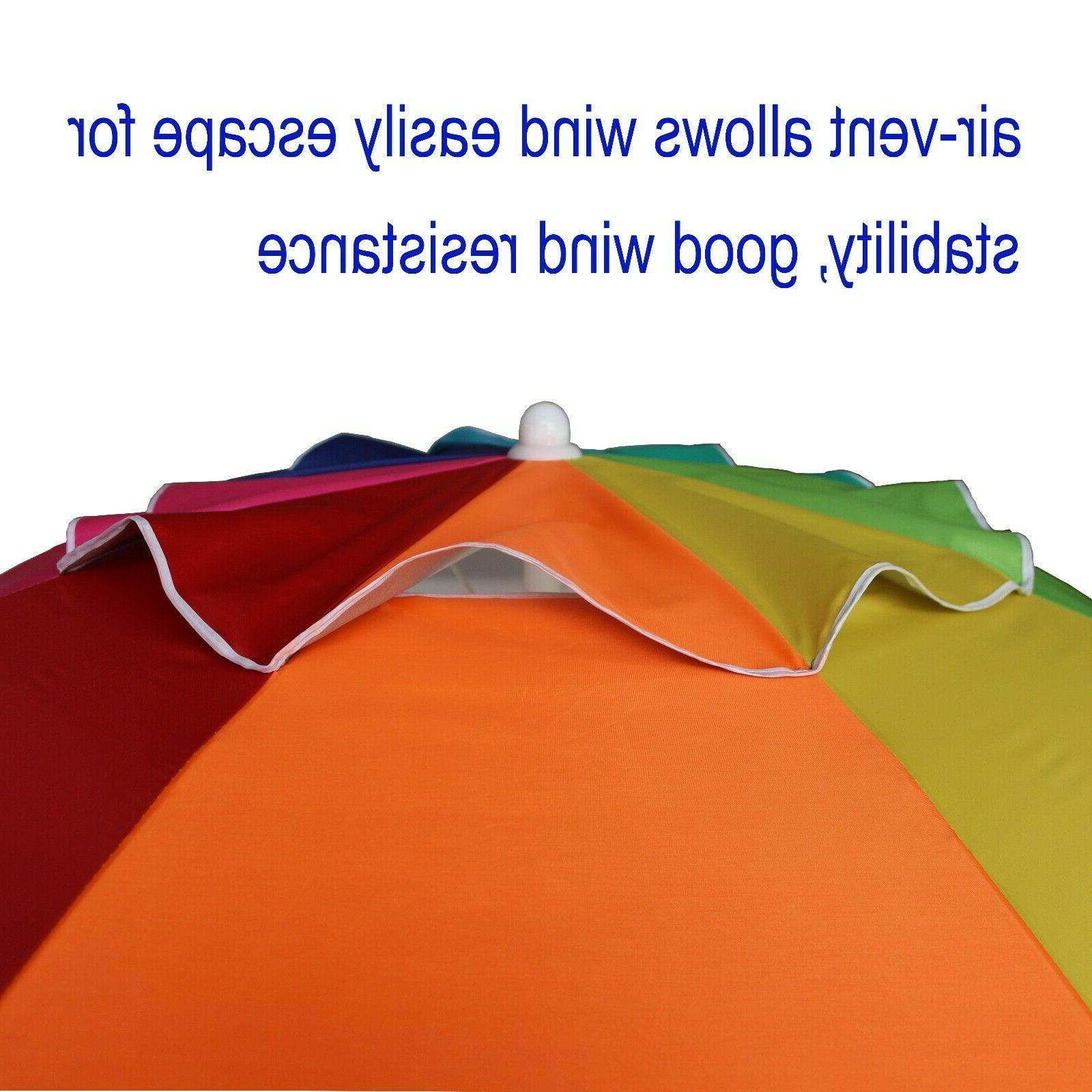 AMMSUN Beach Umbrella, air Vented Steel 100+