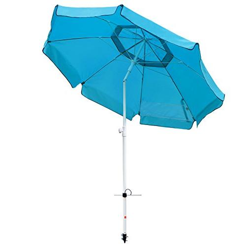 Abba Patio Beach Umbrella with Anchor, Button and Height Umbrella, Turquoise