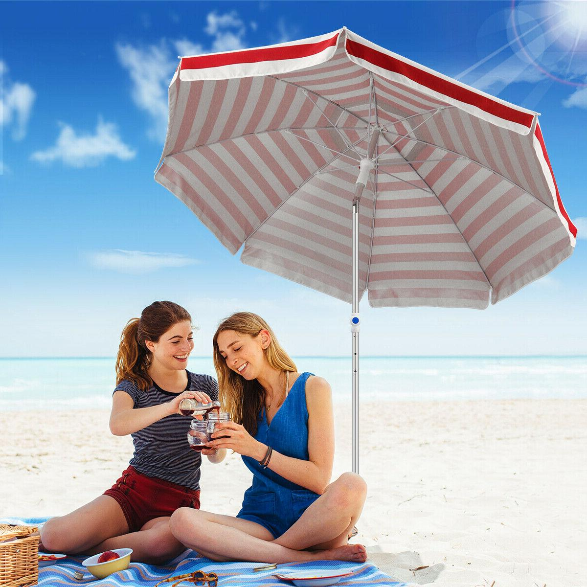 Beach Umbrella Sand Anchor Tilt Pole +