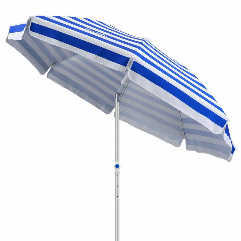 Beach Umbrella 7ft Anchor Pole UV Prote +