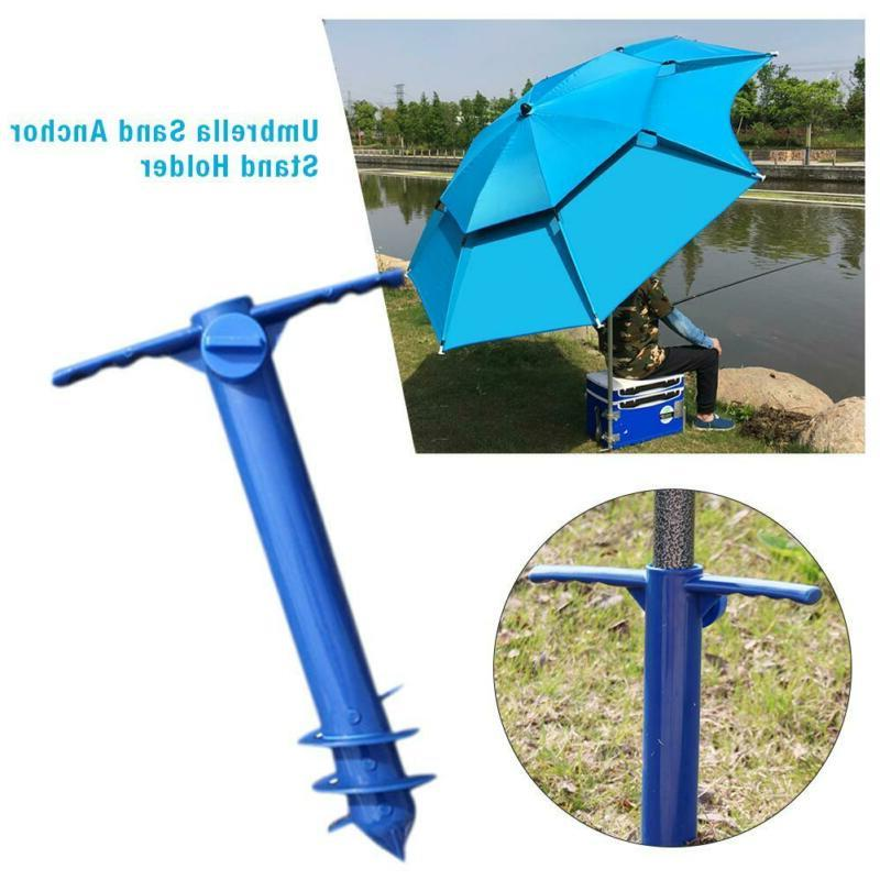 Beach Umbrella Anchor Auger and Pole Sand